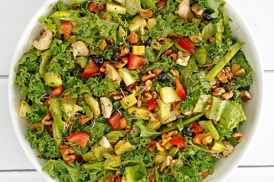 Recipe: Garden Harvest Salad with Smoky Walnut Dressing image