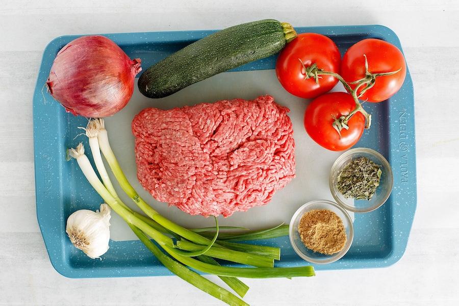 Recipe: Greek Meatballs & Zoodles with Lemon Vinaigrette image