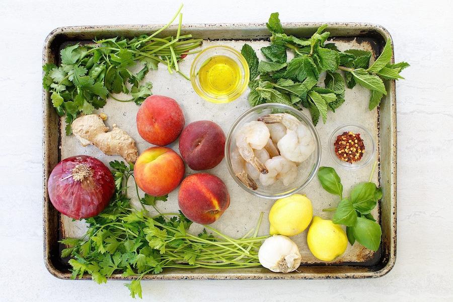 Recipe: Shrimp & Peach Grillers image