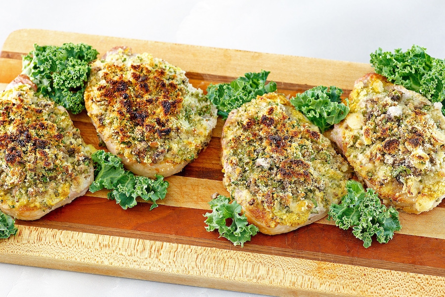 Recipe: Herb-Crusted Pork Chops image