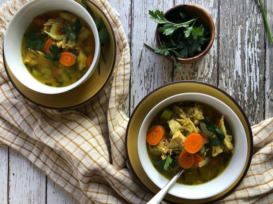 30-Minute Leftover Turkey Soup image