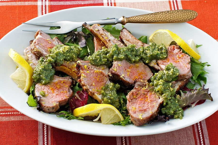Recipe: Lamb Chops with Paleo Pesto Sauce image