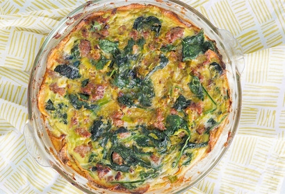 Pork Spinach Leek Quiche