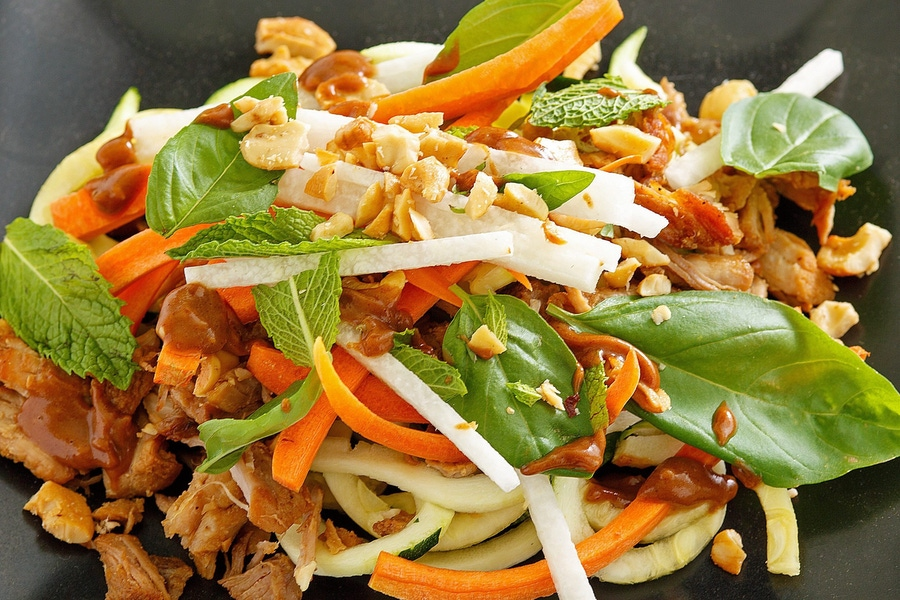 Recipe: Pork Spring Roll Salad image