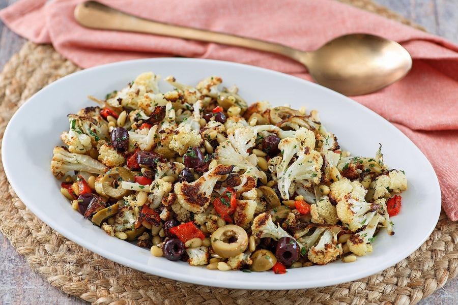 Recipe: Roasted Cauliflower with Red Bell Peppers image