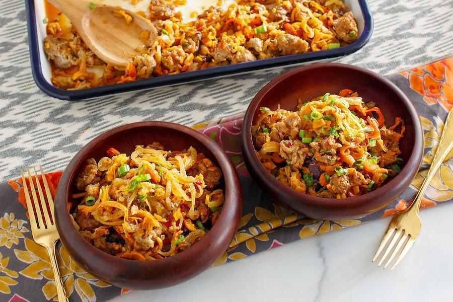 Recipe: Sheet Pan Pork and Asian Vegetables image