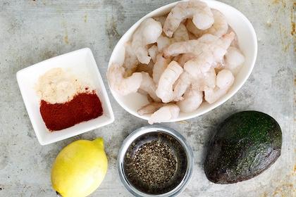 食谱:虾填充鳄梨形象