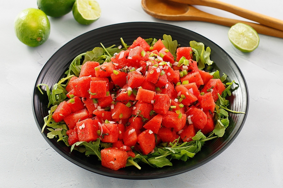 食谱:香辣西瓜沙拉图片
