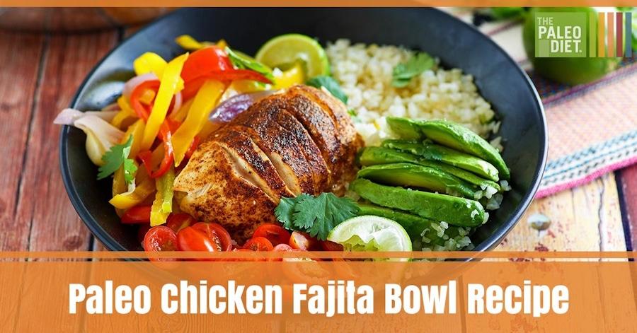 Recipe: Chicken Fajita Bowl with Cauliflower Rice image