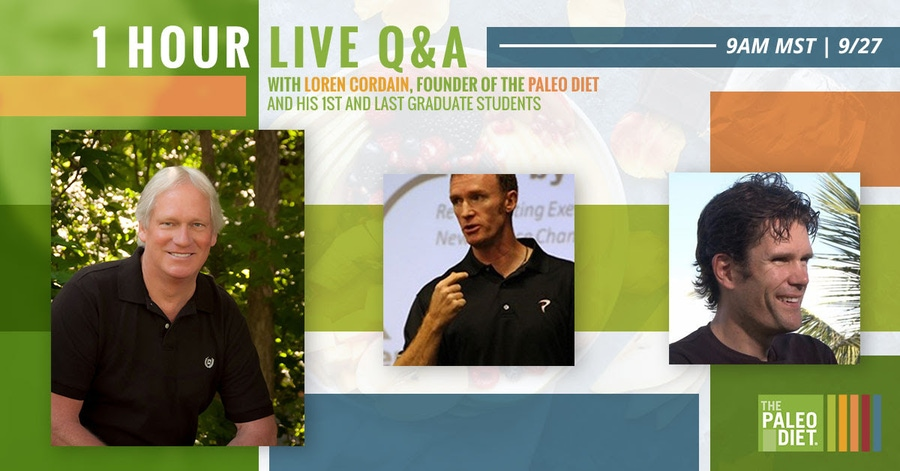 Ask Dr. Cordain and The Paleo Diet Team image