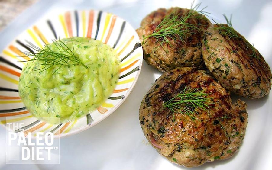 Recipe: Greek Lamb Keftedes with Paleo Tzatziki image