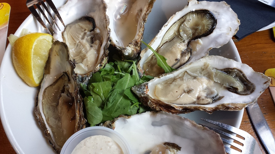 Recipe: Broiled Oysters with Lemon Pepper image