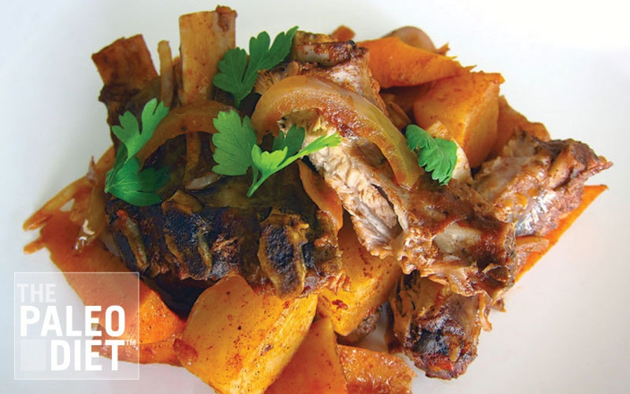 Recipe: Slow Cooked Pork Ribs with Carrots & Turnips image