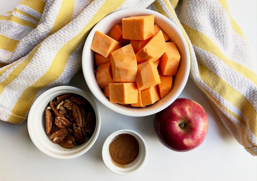 Recipe: Sweet Potato Breakfast Bowl with Apples & Cinnamon image